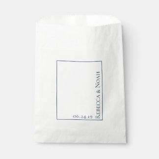 Sacolinha Casamento atenuado elegante minimalista simples do