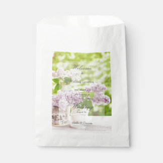 Sacolinha Casamento branco floral do Lilac da flor romântica