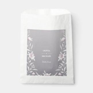Sacolinha Casamento de prata floral do Chinoiserie da
