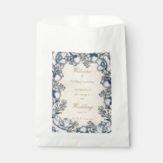 Sacolinha Casamento floral da flor rústica do vintage