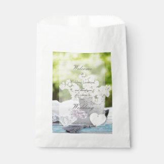 Sacolinha Casamento floral do Lilac da flor romântica do