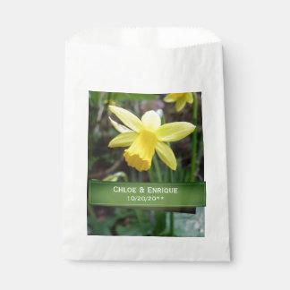 Sacolinha Casamento personalizado do foco Daffodil macio