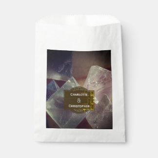 Sacolinha Casamento personalizado pedra preciosa da fluorite