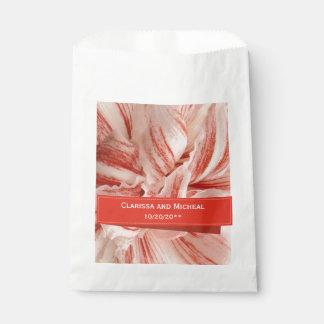 Sacolinha Casamento personalizado pétalas do Amaryllis