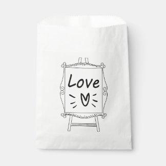 Sacolinha Casamento preto & branco, amor do chá de panela