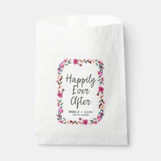 Sacolinha Casamento romântico da grinalda da flor do conto