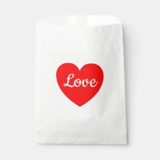 Sacolinha Casamento vermelho do amor do coração, partido,