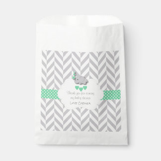 Sacolinha Chá de fraldas cinzento verde, branco do elefante