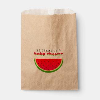 Sacolinha Chá de fraldas do piquenique da melancia