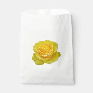 Sacolinha Close up bonito do rosa amarelo isolado