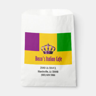 Sacolinha Comida da restauração do saco do favor de Cafe do