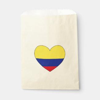 Sacolinha Coração da bandeira de Colômbia
