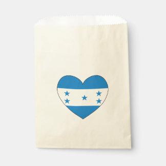 Sacolinha Coração da bandeira de Honduras