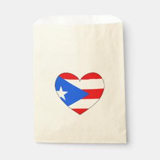 Sacolinha Coração da bandeira de Puerto Rico
