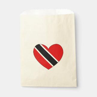 Sacolinha Coração da bandeira de Trinidad and Tobago