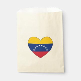 Sacolinha Coração da bandeira de Venezuela