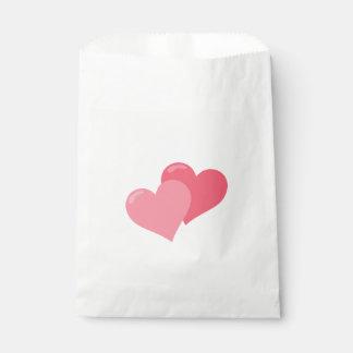 Sacolinha Corações cor-de-rosa bonito