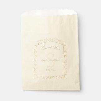 Sacolinha Creme floral do damasco e casamento bege