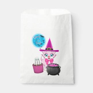 Sacolinha Desenhos animados cor-de-rosa do Dia das Bruxas do