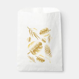 Sacolinha Design moderno elegante do teste padrão das folhas