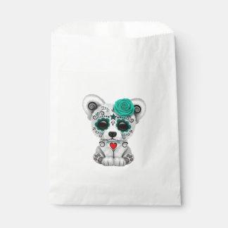 Sacolinha Dia azul do urso polar do bebê inoperante