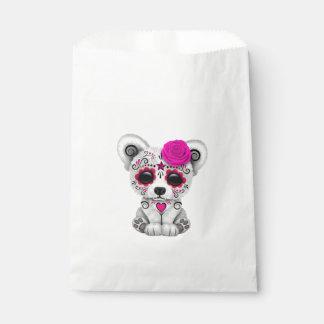 Sacolinha Dia cor-de-rosa do urso polar do bebê inoperante