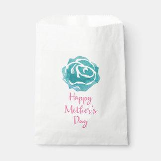 Sacolinha Dia das mães cor-de-rosa da flor da aguarela da