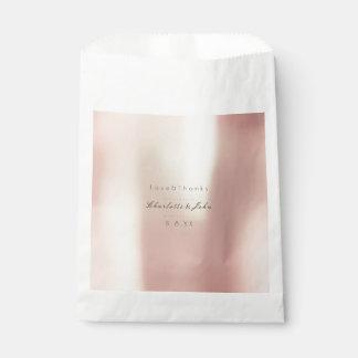 Sacolinha Favor perolado mínimo metálico do rosa cor-de-rosa
