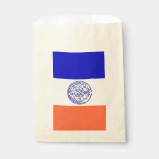 Sacolinha Favoreça o saco com a bandeira da Nova Iorque, EUA