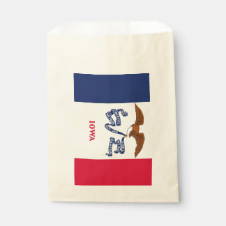 Sacolinha Favoreça o saco com a bandeira do estado de Iowa,