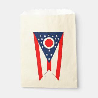 Sacolinha Favoreça o saco com a bandeira do estado de Ohio,
