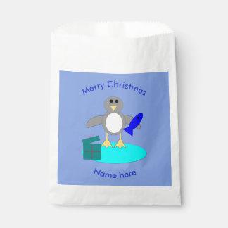 Sacolinha Feliz Natal que pesca as bolsas feitas sob