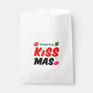Sacolinha Feriado alegre retro de Kissmas