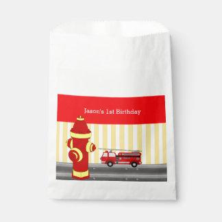 Sacolinha Festa de aniversário do carro de bombeiros