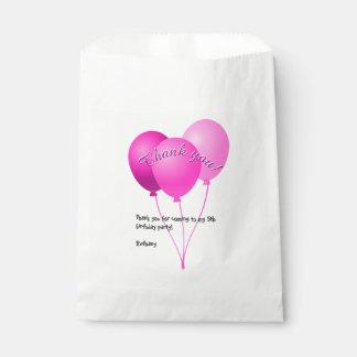 """Sacolinha Festa de aniversário """"obrigado você"""" balões"""