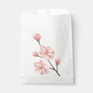 Sacolinha Festa de casamento cor-de-rosa floral da flor de