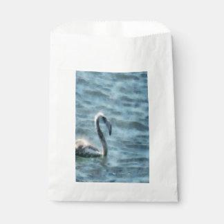 Sacolinha Flamingo do principiante na aguarela do mar