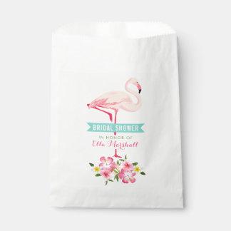 Sacolinha Flamingo tropical do chá de panela | floral