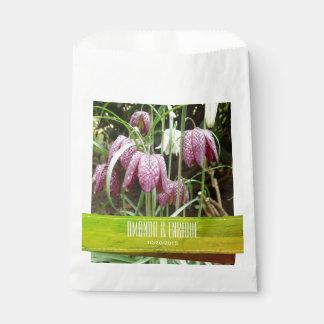 Sacolinha Flores do Fritillary roxo e branco