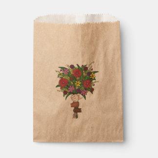Sacolinha Flores pequenas do dia das mães do professor do