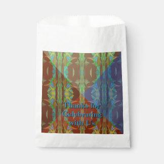 Sacolinha Floresta tropical Cones5 com seu texto