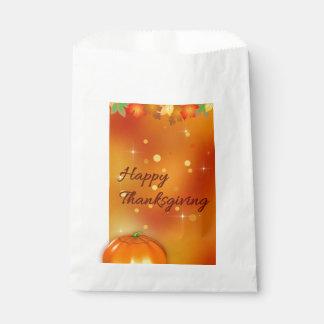 Sacolinha Folhas de outono coloridas - saco do favor da