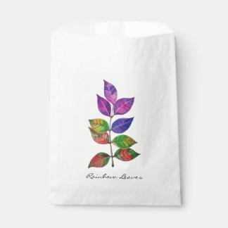 Sacolinha Folhas do arco-íris da aguarela