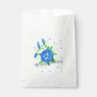 Sacolinha Fontes da festa de aniversário do rosa do azul