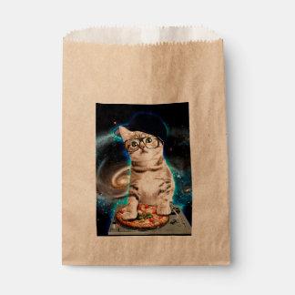 Sacolinha gato do DJ - gato do espaço - pizza do gato -