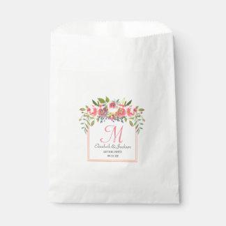 Sacolinha Grinalda floral da aguarela do pêssego do