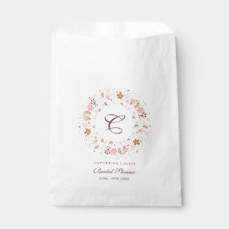 Sacolinha Grinalda floral personalizada do chá de panela do