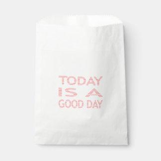 Sacolinha Hoje é um bom dia - tiras - rosa