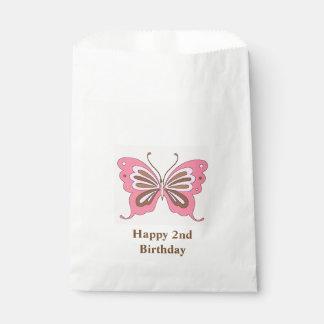 Sacolinha Idade do costume do feliz aniversario da borboleta