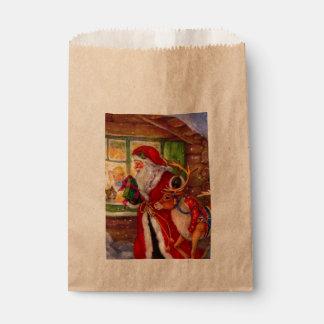 Sacolinha Ilustração de Papai Noel - ilustrações do Natal